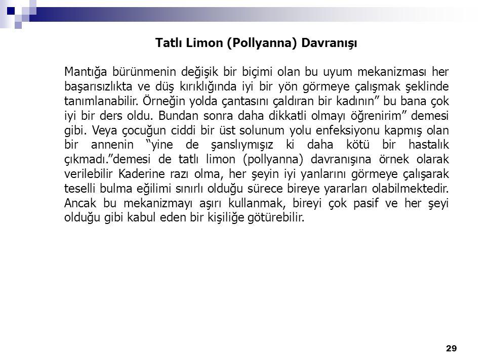 Tatlı Limon (Pollyanna) Davranışı