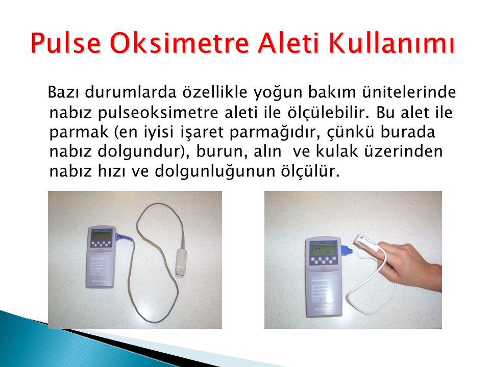 Pulse Oksimetre Aleti Kullanımı