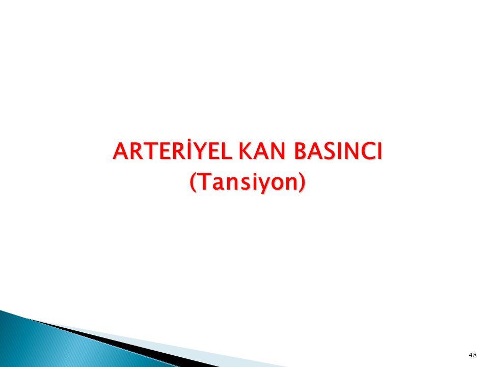 ARTERİYEL KAN BASINCI (Tansiyon)