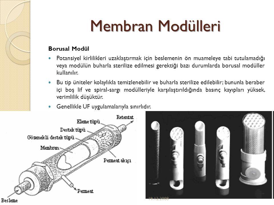 Membran Modülleri Borusal Modül