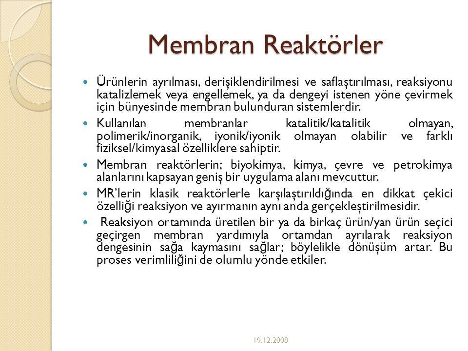 Membran Reaktörler
