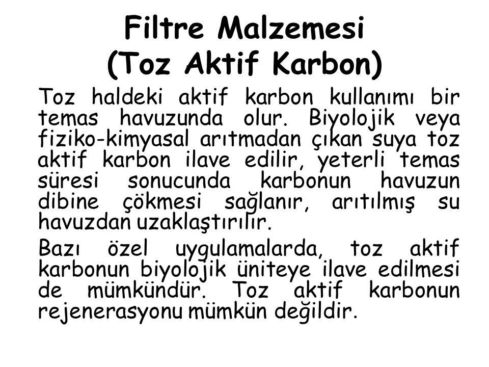 Filtre Malzemesi (Toz Aktif Karbon)