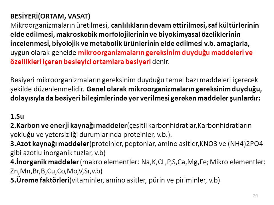 BESİYERİ(ORTAM, VASAT)