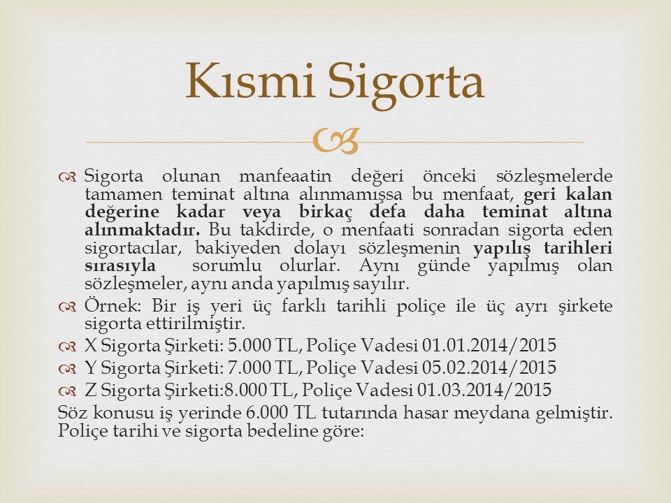 Kısmi Sigorta