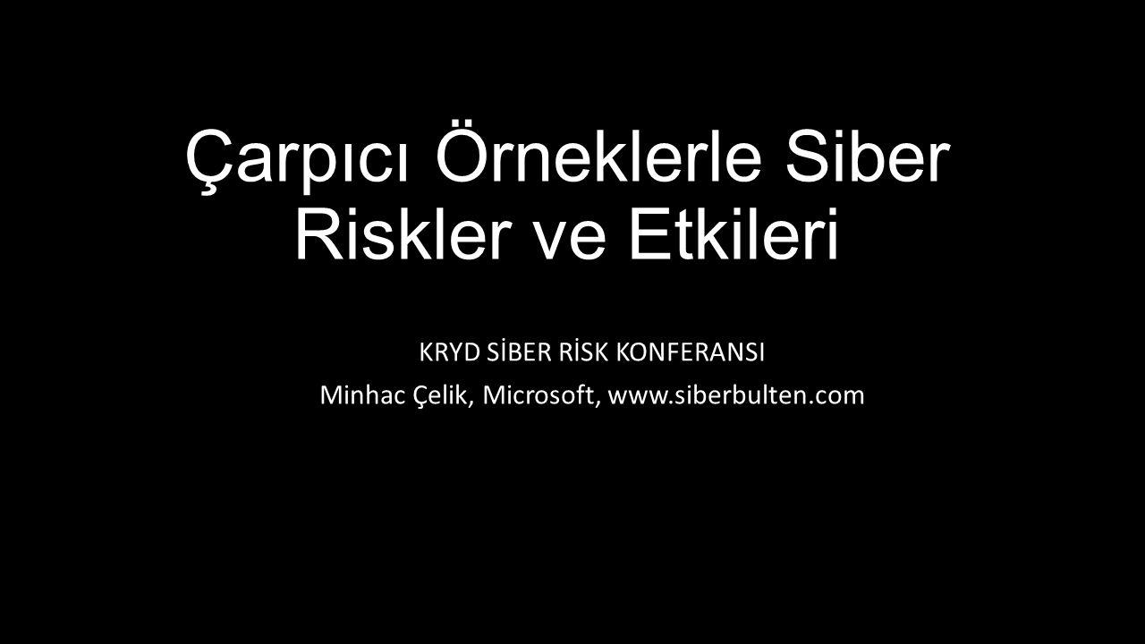 Çarpıcı Örneklerle Siber Riskler ve Etkileri