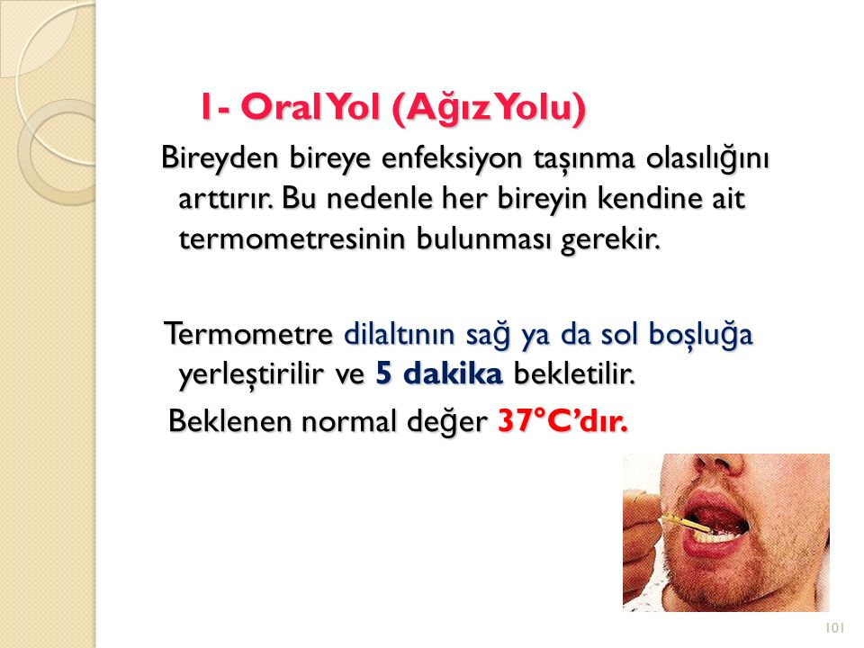 1- Oral Yol (Ağız Yolu)