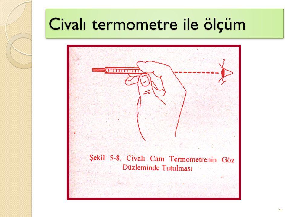 Civalı termometre ile ölçüm
