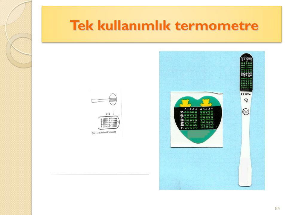 Tek kullanımlık termometre