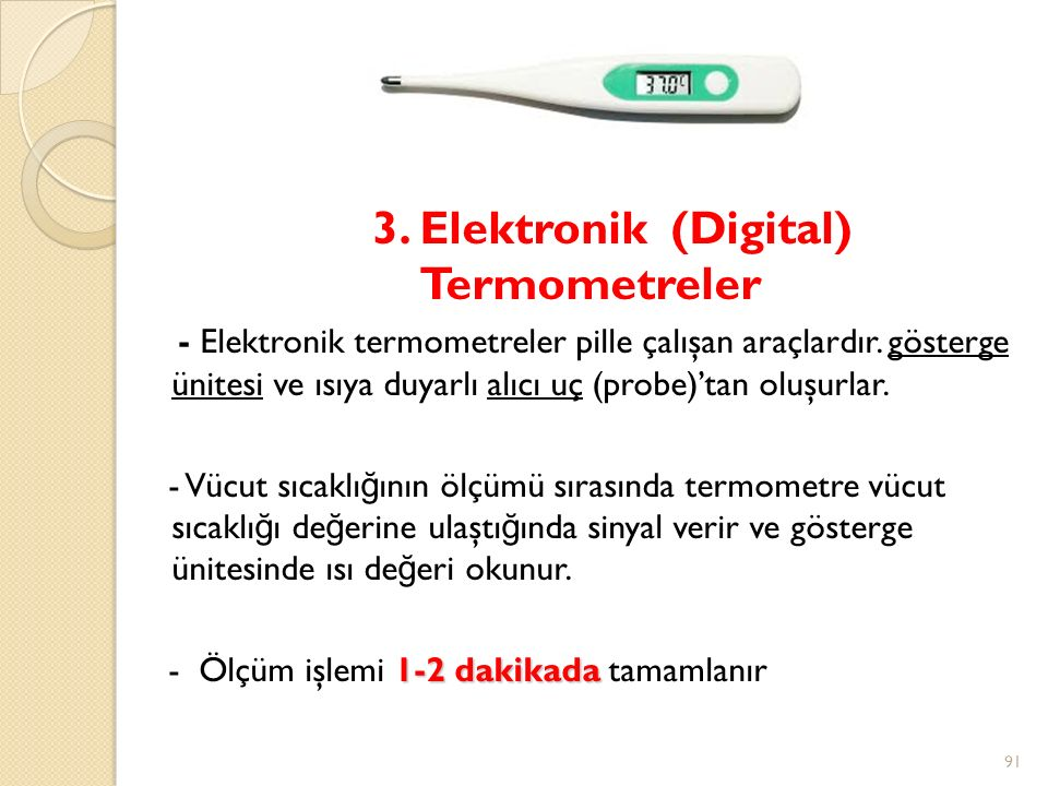 3. Elektronik (Digital) Termometreler