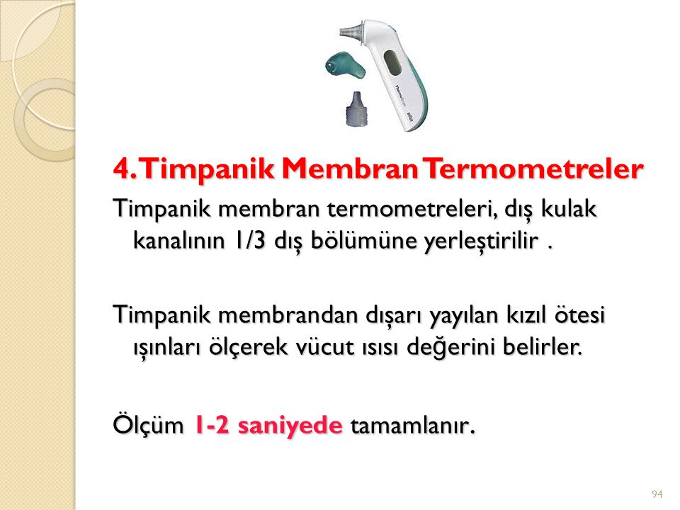 4. Timpanik Membran Termometreler