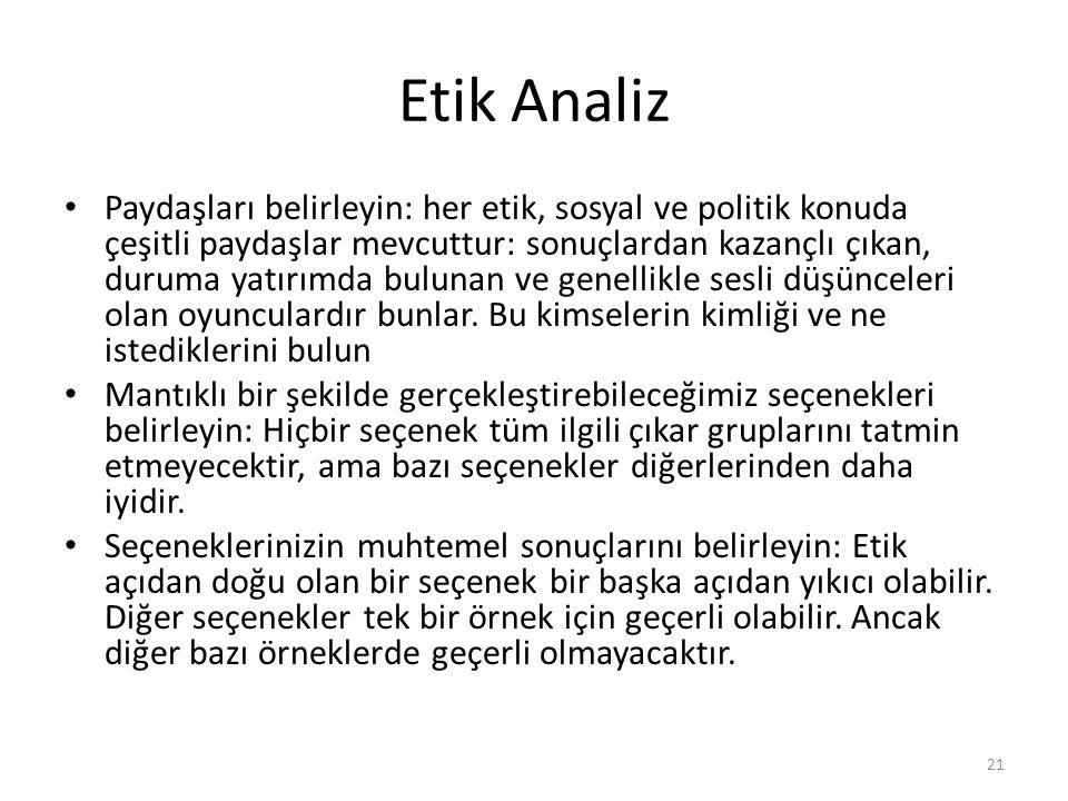 Etik Analiz