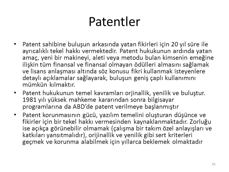 Patentler