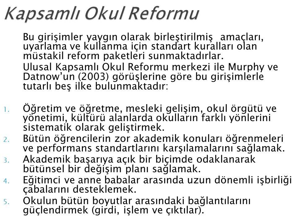 Kapsamlı Okul Reformu