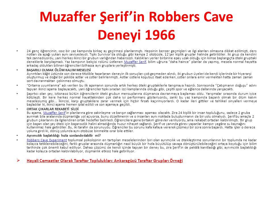 Muzaffer Şerif'in Robbers Cave Deneyi 1966