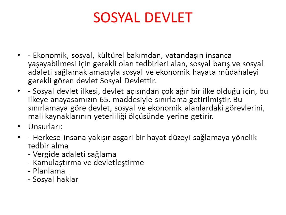 SOSYAL DEVLET