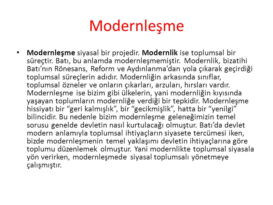 Modernleşme