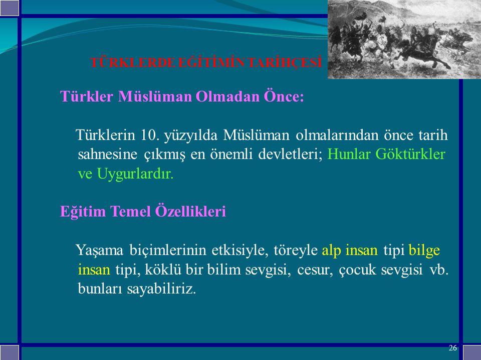 Türkler Müslüman Olmadan Önce: