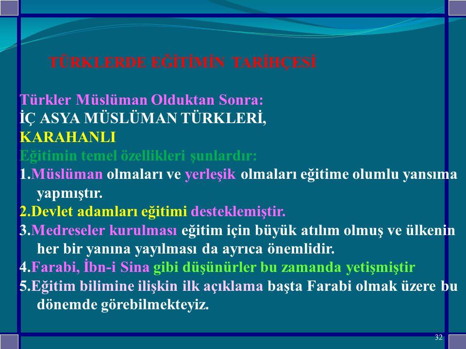 Türkler Müslüman Olduktan Sonra: İÇ ASYA MÜSLÜMAN TÜRKLERİ, KARAHANLI