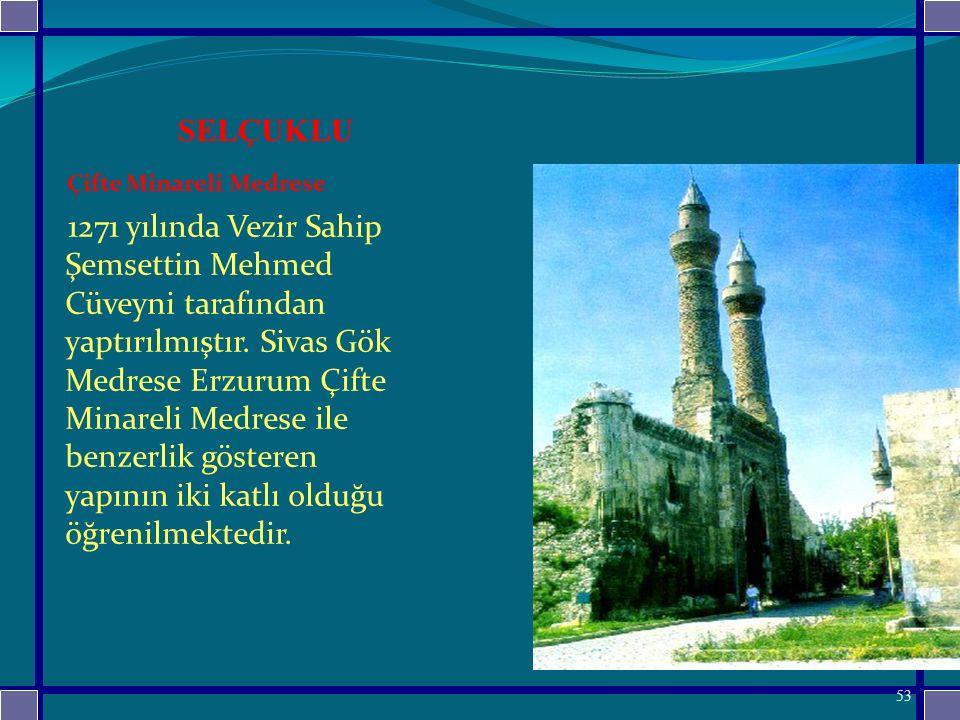 SELÇUKLU Çifte Minareli Medrese.