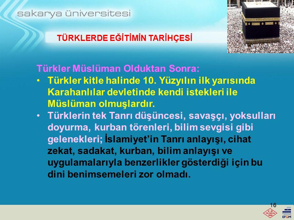 Türkler Müslüman Olduktan Sonra: