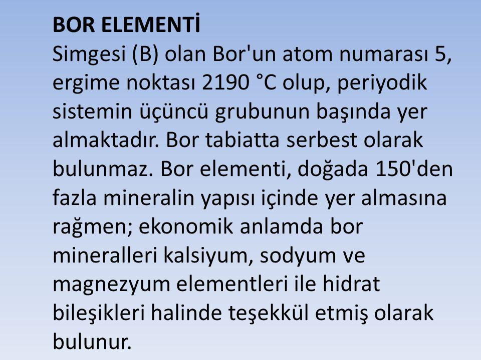 BOR ELEMENTİ