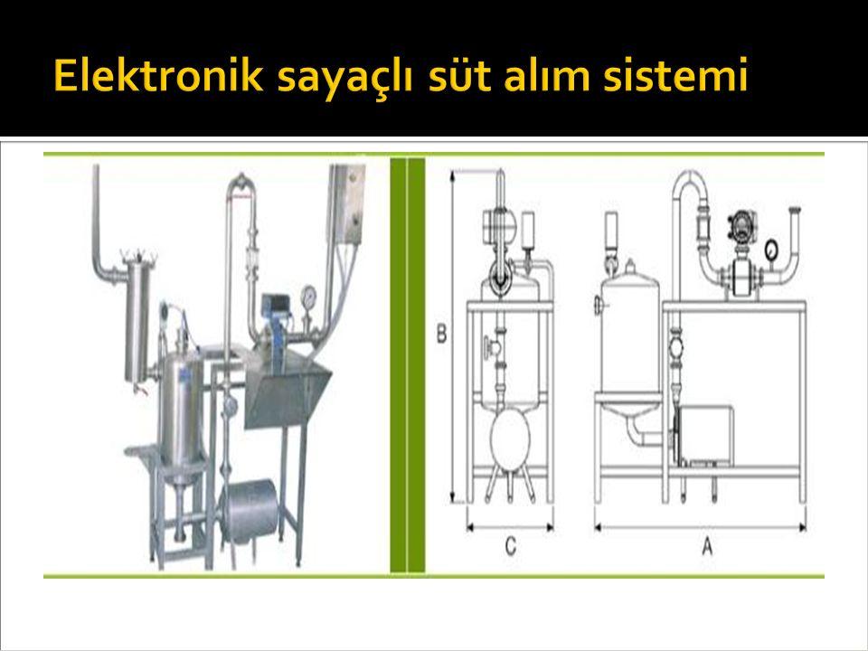 Elektronik sayaçlı süt alım sistemi