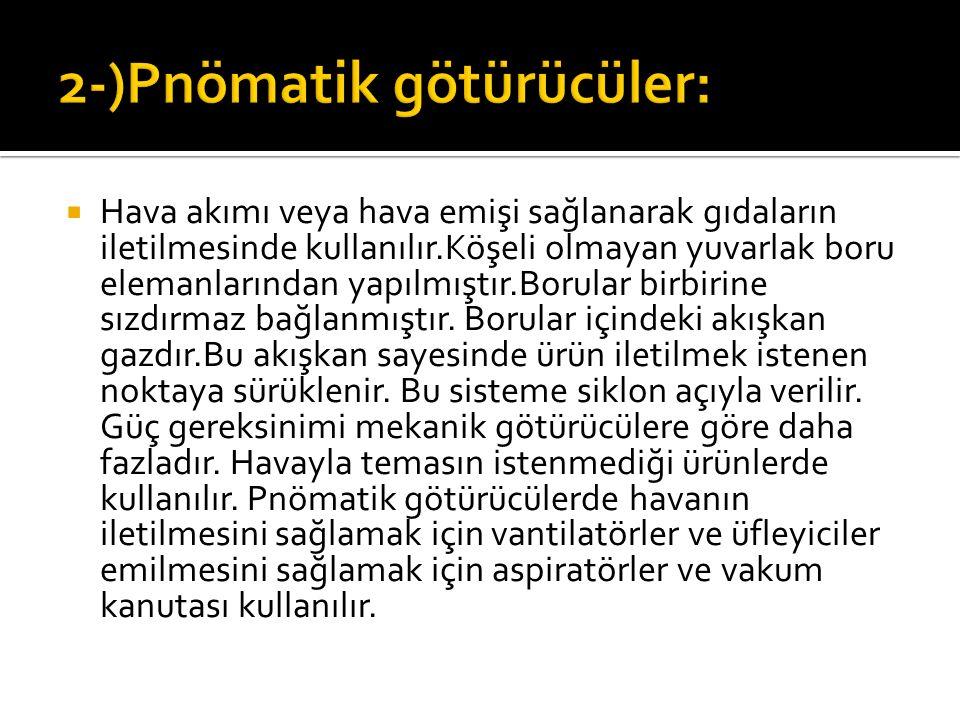 2-)Pnömatik götürücüler: