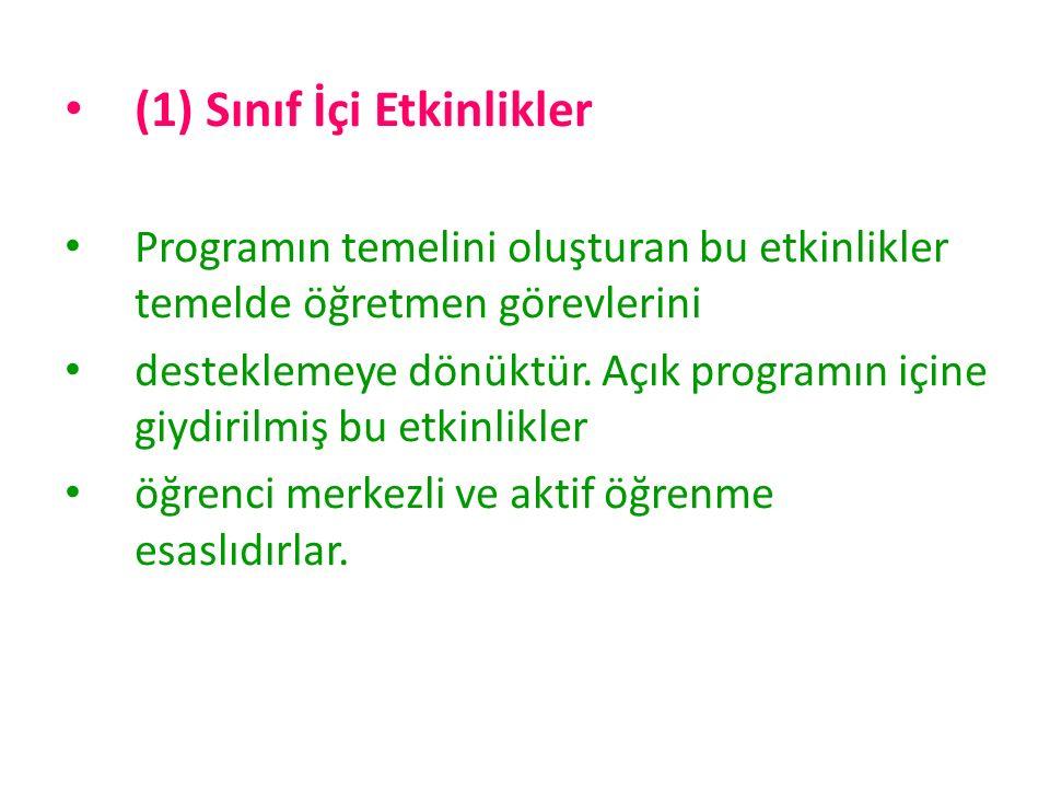 (1) Sınıf İçi Etkinlikler