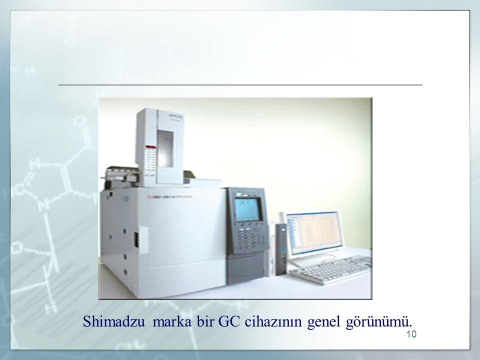 Shimadzu marka bir GC cihazının genel görünümü.