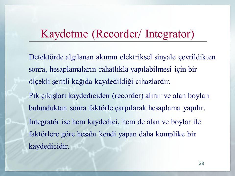 Kaydetme (Recorder/ Integrator)