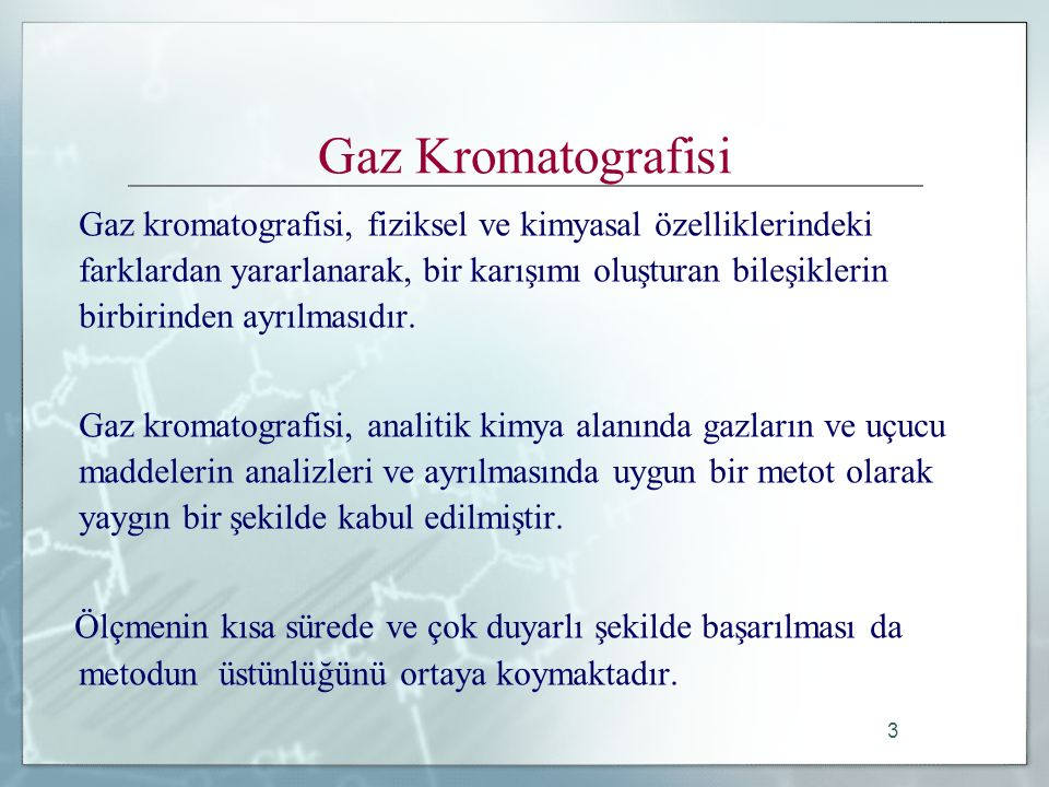 Gaz Kromatografisi