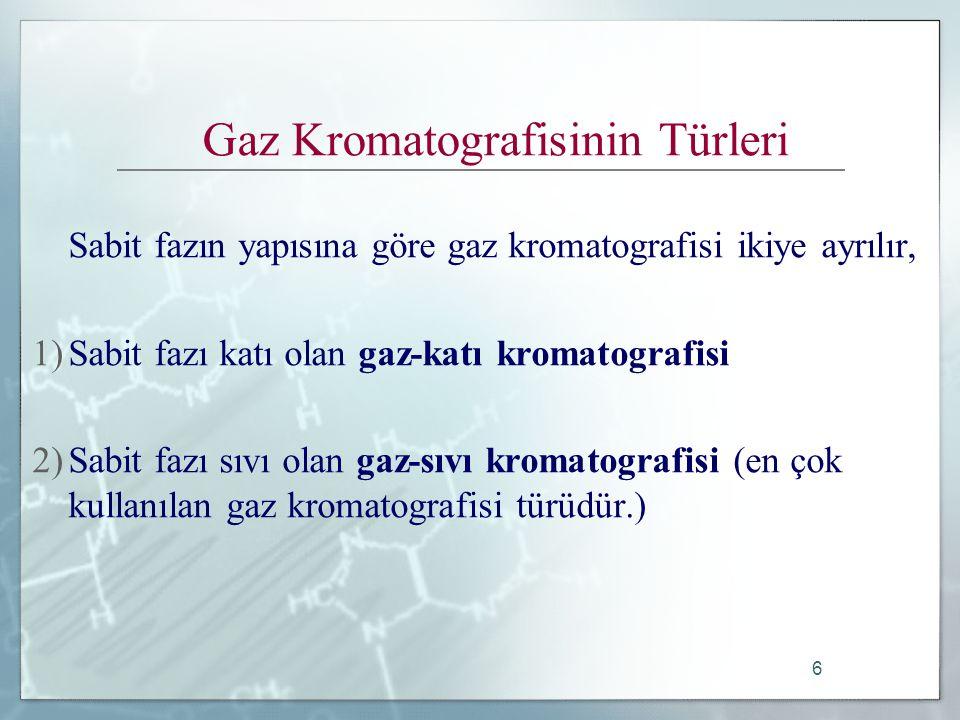 Gaz Kromatografisinin Türleri