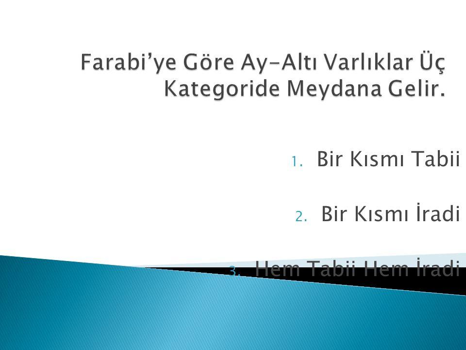 Farabi'ye Göre Ay-Altı Varlıklar Üç Kategoride Meydana Gelir.