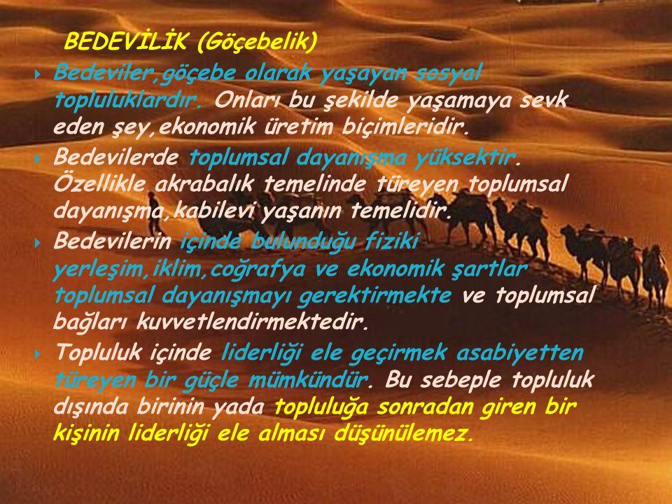 BEDEVİLİK (Göçebelik)