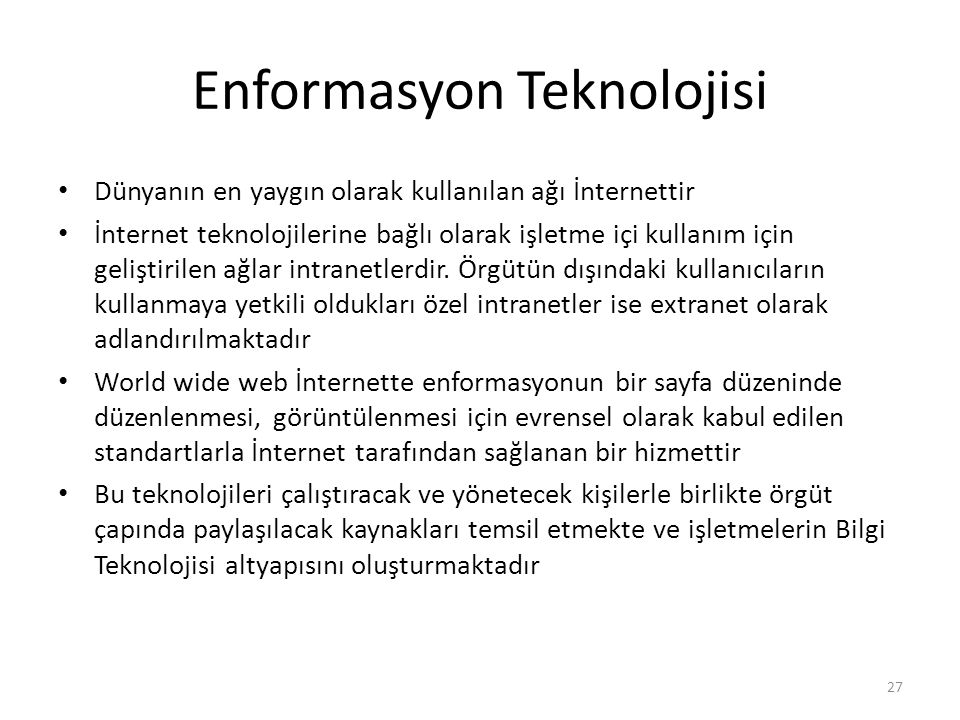 Enformasyon Teknolojisi
