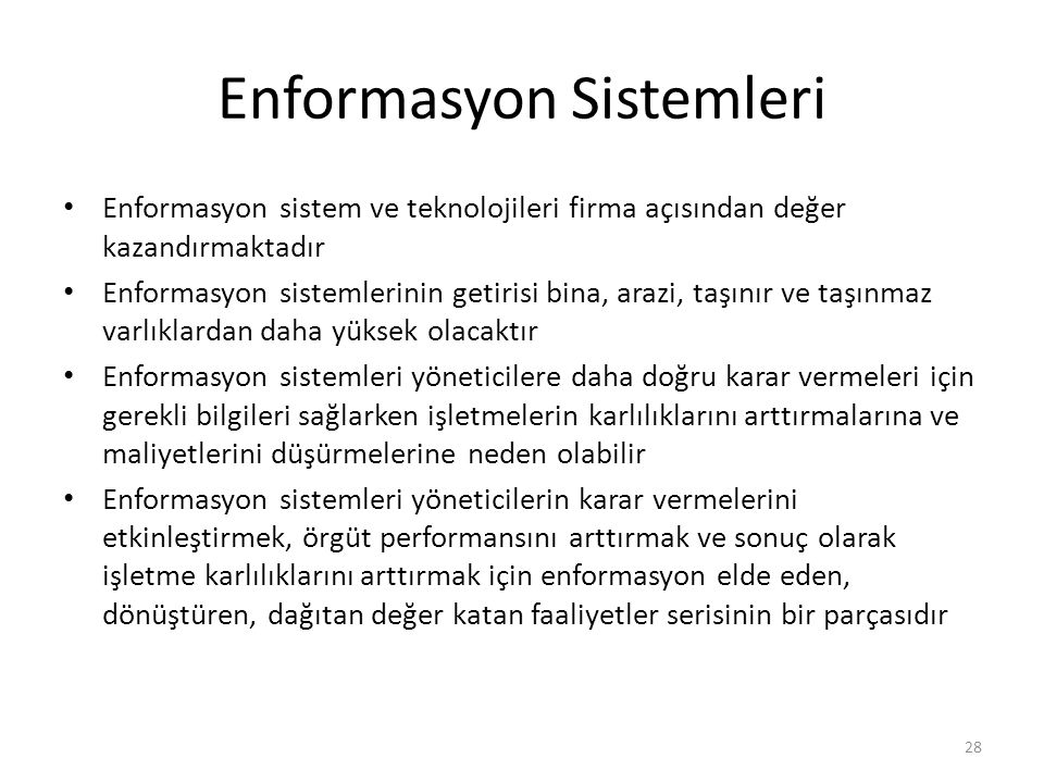 Enformasyon Sistemleri