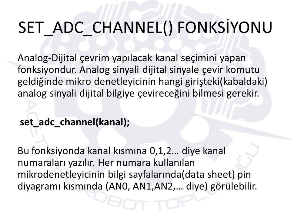 SET_ADC_CHANNEL() FONKSİYONU