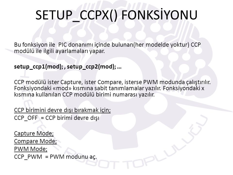 SETUP_CCPX() FONKSİYONU
