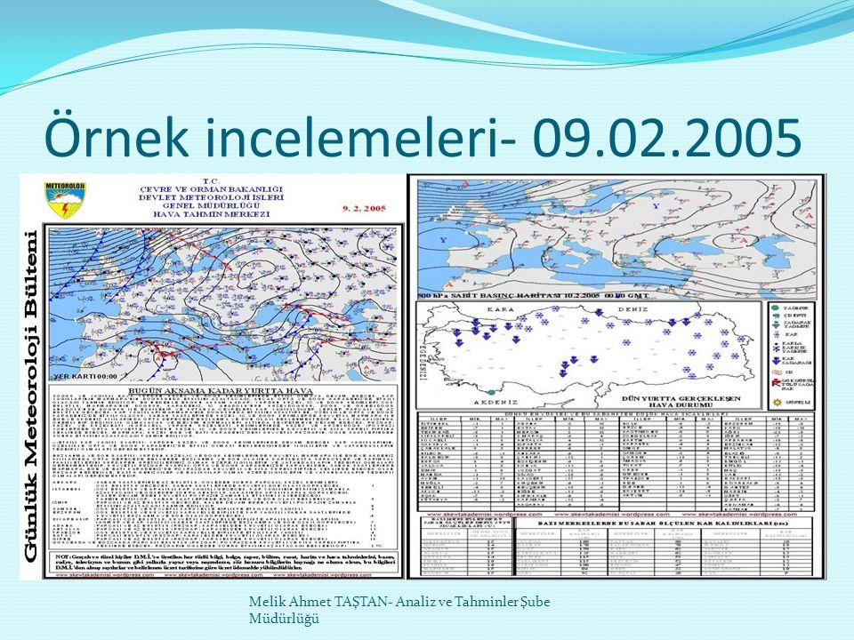 Örnek incelemeleri- 09.02.2005 Melik Ahmet TAŞTAN- Analiz ve Tahminler Şube Müdürlüğü