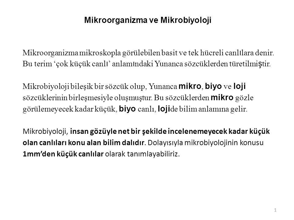 Mikroorganizma ve Mikrobiyoloji