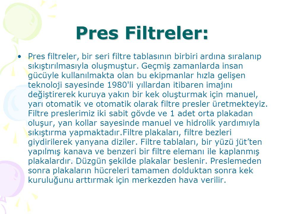 Pres Filtreler: