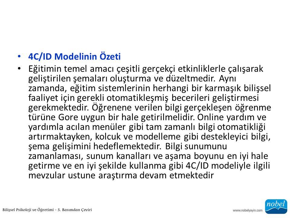 4C/ID Modelinin Özeti