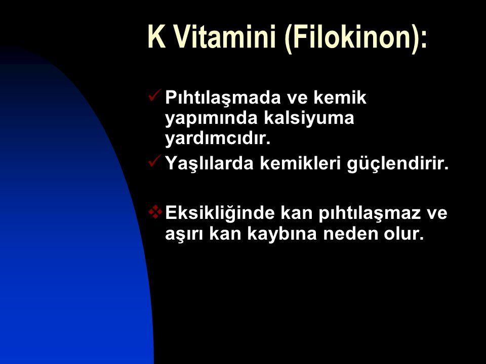 K Vitamini (Filokinon):