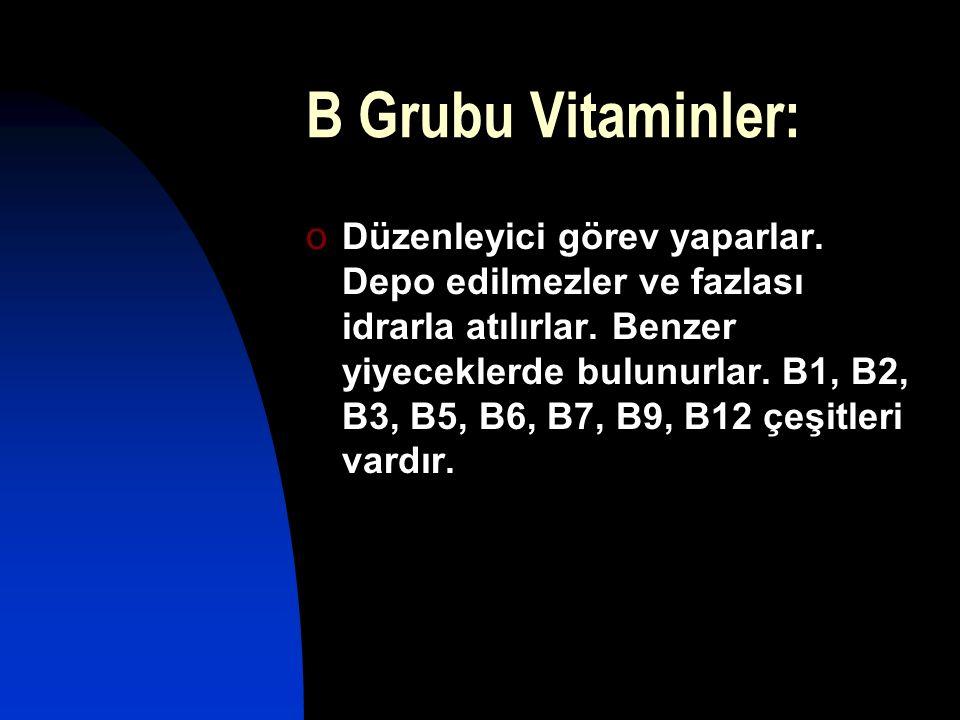 B Grubu Vitaminler: