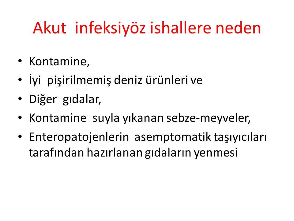 Akut infeksiyöz ishallere neden