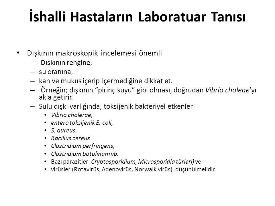 İshalli Hastaların Laboratuar Tanısı