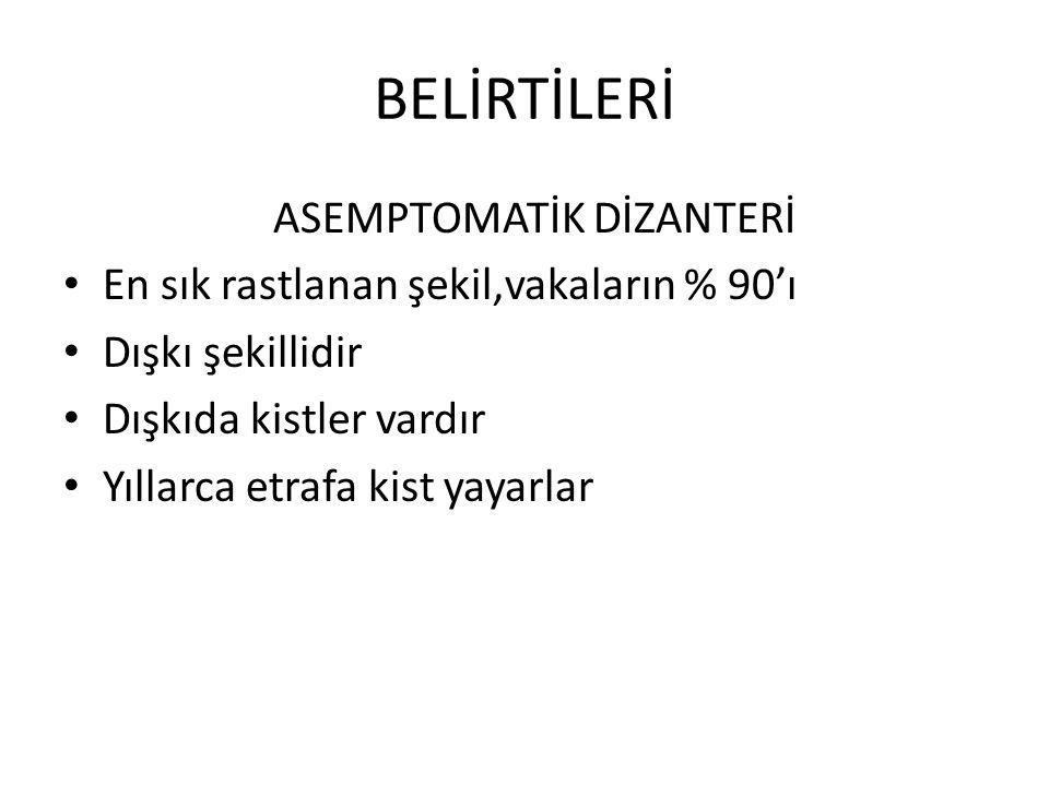 BELİRTİLERİ ASEMPTOMATİK DİZANTERİ