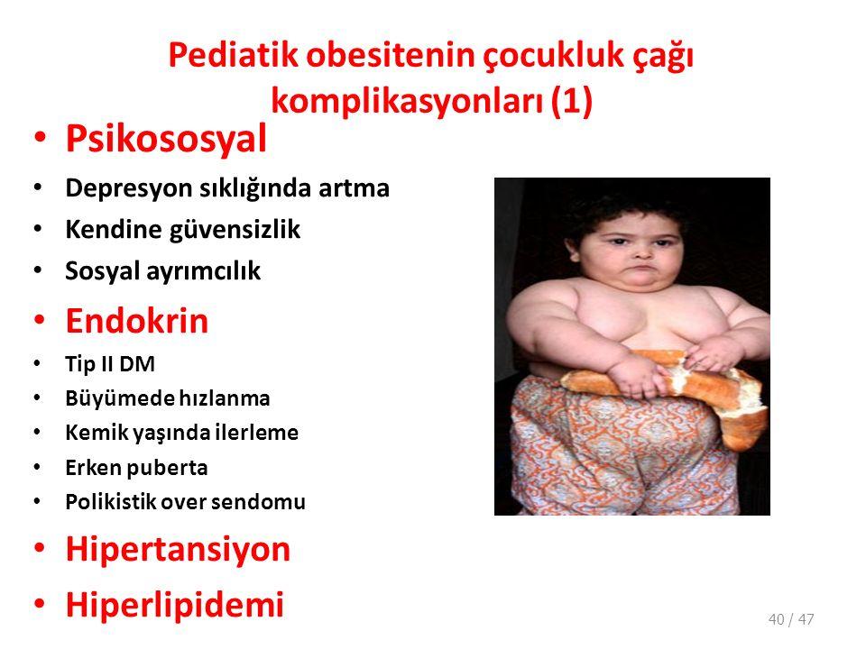 Pediatik obesitenin çocukluk çağı komplikasyonları (1)