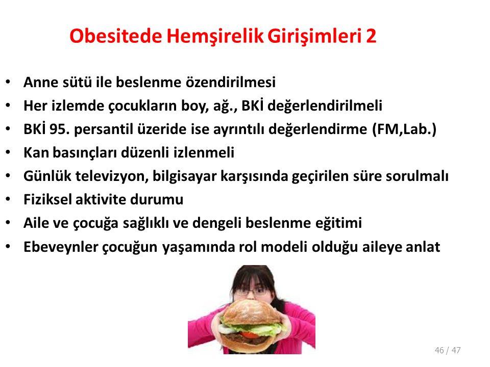 Obesitede Hemşirelik Girişimleri 2