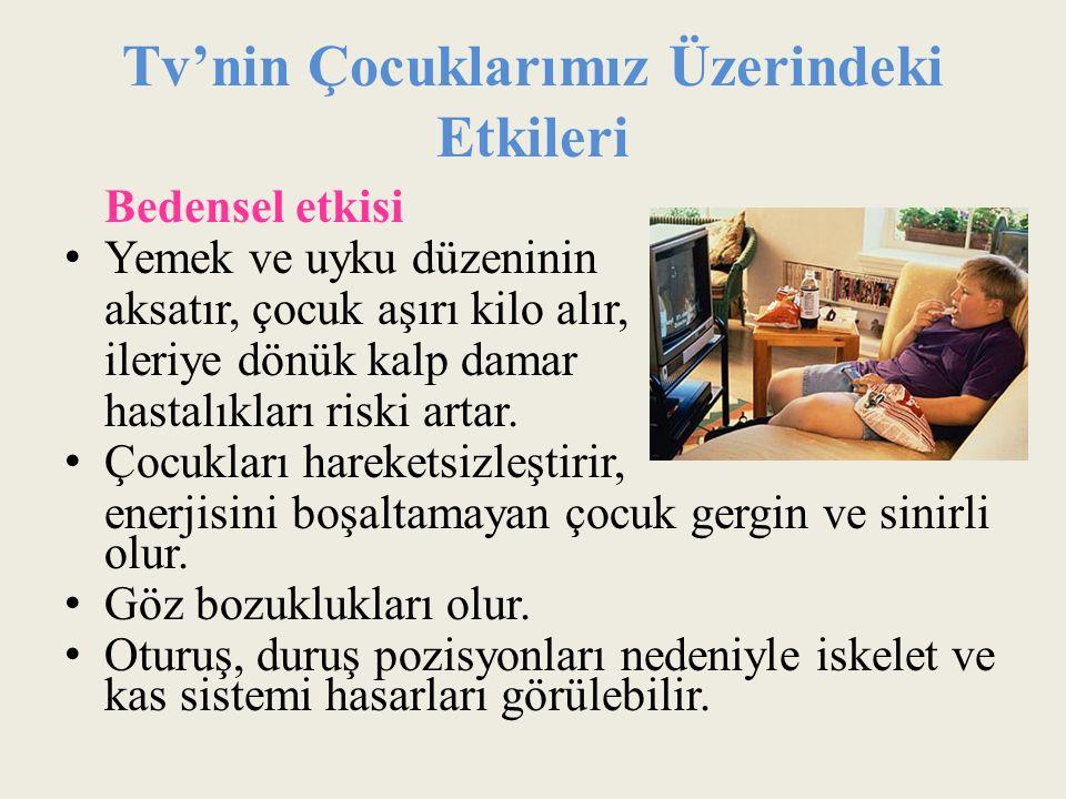 Tv'nin Çocuklarımız Üzerindeki Etkileri